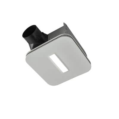 Easy to Install 80 CFM Bathroom Exhaust Fan with LED Clean Cover, ENERGY STAR