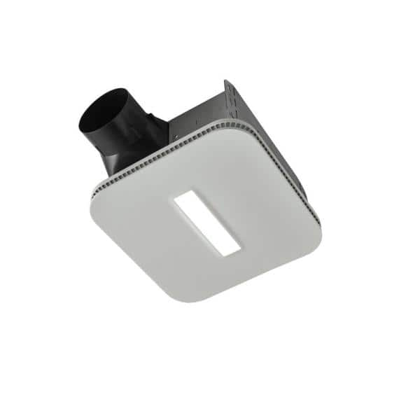 Broan Nutone Easy To Install 80 Cfm Bathroom Exhaust Fan With Led Clean Cover Energy Star Aern80lk The Home Depot