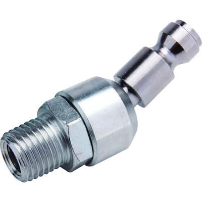 Zinc 1/4 in. x 1/4 in. Male to Male Swivel Automotive Plug