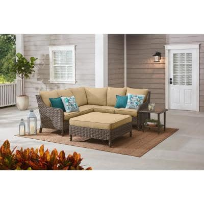 Windsor Brown Square Metal Outdoor Patio Side Table