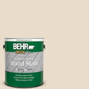 1 gal. #SC-157 Navajo White Solid Color Waterproofing Exterior Wood Stain