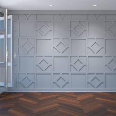 "3/8"" x 40-7/8"" x 23-3/8"" Arcadia Decorative Fretwork Wall Panels in Architectural Grade PVC"