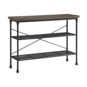 Madeleine 36 in. H Brown Rectangle Faux Wood Console Table