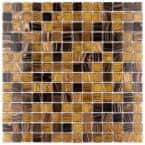 Coppa Amber 12 in. x 12 in. Glass Mosaic Tile (13.27 sq. ft. / Case)