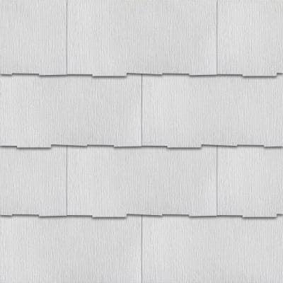 WeatherSide Purity Thatched 12 in. x 24 in. Fiber-Cement Siding Shingle (19-Bundle)