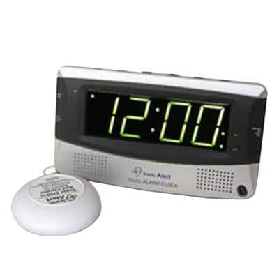 Dual Digital Alarm Clock with Bed Shaker