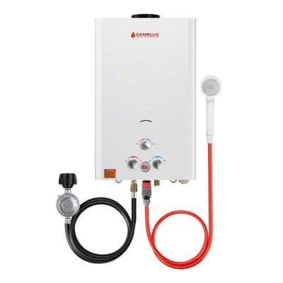 Camplux 16L 4.22 GPM Residential Outdoor Liquid Propane Portable Gas Tankless Water Heater