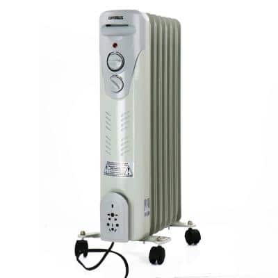 600-Watt to 1500-Watt Electric Portable Oil-Filled Radiant Portable Heater