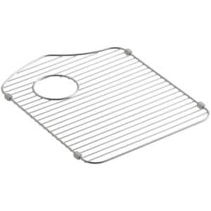 Octave 14.375 in. x 18.3125 in. Kitchen Sink Bowl Rack in Stainless Steel for Left Bowl