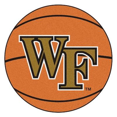 NCAA Wake Forest University Orange 2 ft. x 2 ft. Round Area Rug