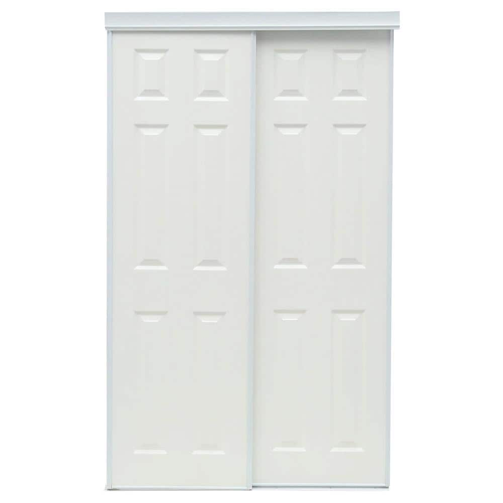 Truporte 48 In X 80 In 106 Series White Composite Interior Sliding Door 340010 The Home Depot
