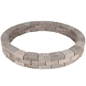 Rumblestone 79.5 in. x 10.5 in. Tree Ring Kit in Greystone