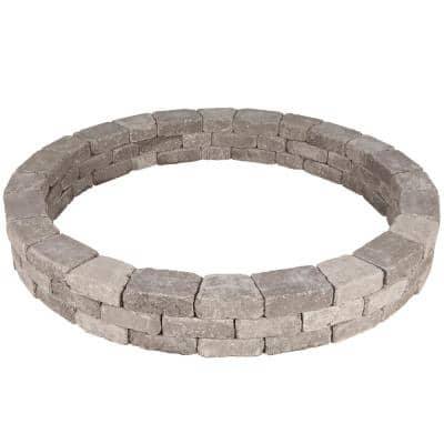 Rumblestone 79.5 in. x 10.5 in. Tree Ring Kit in Greystone
