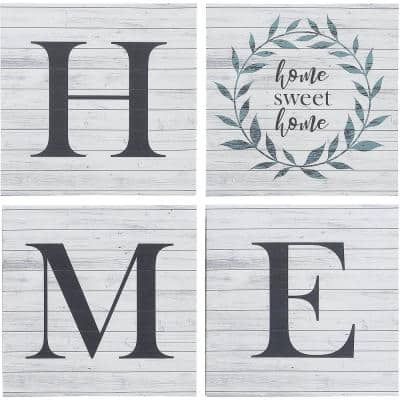 """""""Home Sweet Home Farmhouse"""" Canvas Set 30 in. x 30 in."""