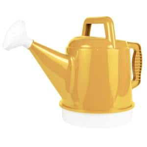Deluxe 2.5 Gal. Earthy Yellow Plastic Watering Can