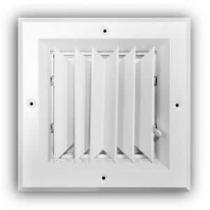 6 in. x 6 in. 2-Way Square Wall/Ceiling Register, White