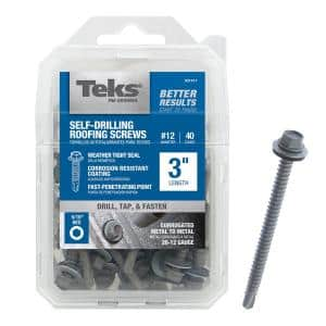 #12 x 3 in. External Hex-Washer-Head Roofing Screw with Washer (40-Pieces per Pack)