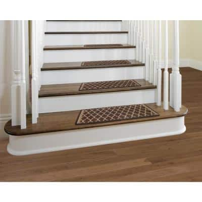 Gardengate Chocolate 9 in. x 26 in. Stair Tread Cover (Set of 12)