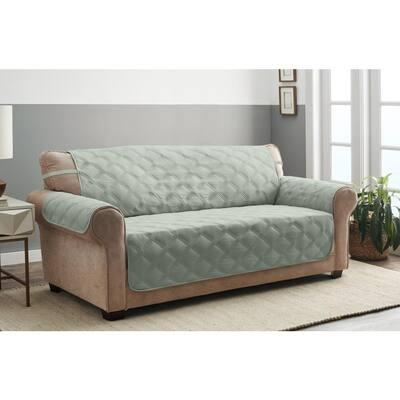 Hampton Celadon 1-Piece Diamond Secure Fit XL Sofa Furniture Cover