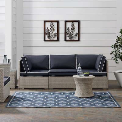 Perplex in Black and Beige 9 ft. x 12 ft. Geometric Diamond Trellis Indoor/Outdoor Area Rug