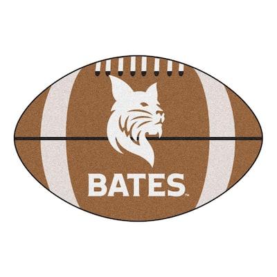 NCAA Bates College 20.5 in. 32.5 in. Football Mat Area Rug