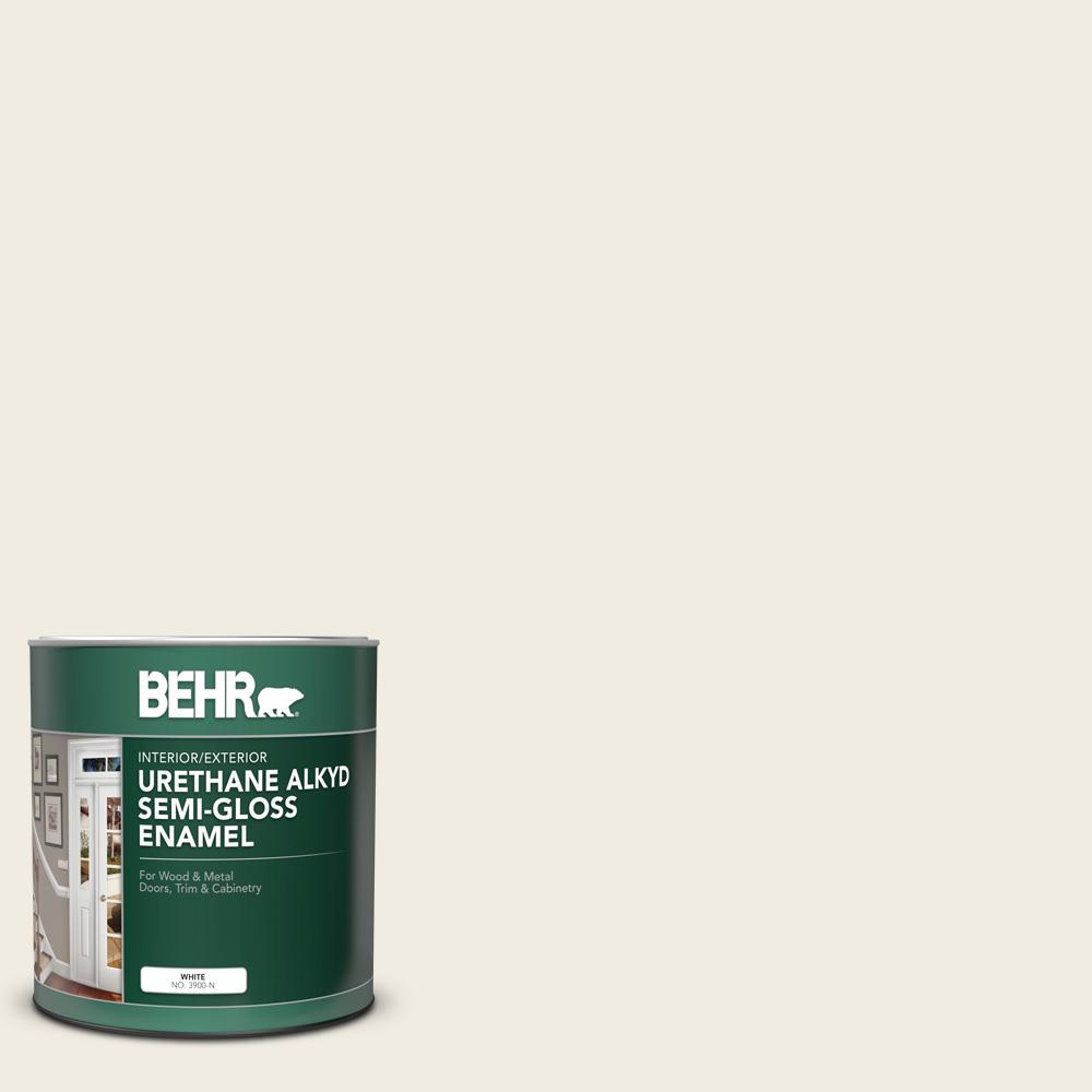 1 qt. #12 Swiss Coffee Semi-Gloss Enamel Urethane Alkyd Interior/Exterior Paint