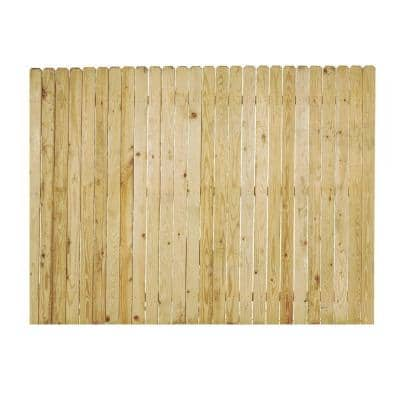 6 ft. x 8 ft. Pressure-Treated Pine 4 in. Dog-Ear Fence Panel
