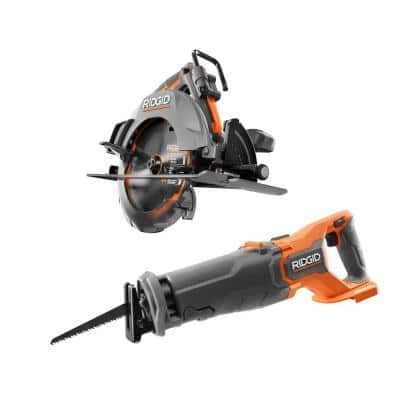 18V Brushless Cordless 2-Tool Combo Kit with Reciprocating Saw and 7-1/4 in. Circular Saw (Tools Only)