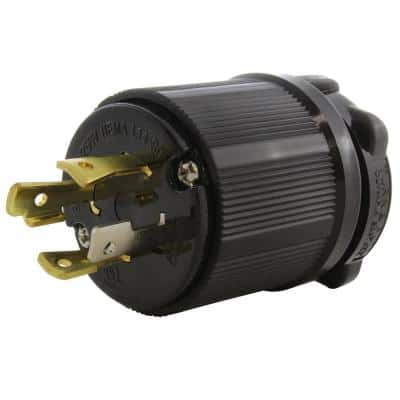 NEMA 30 Amp 125/250-Volt 4-Prong Locking Male Plug With UL C-UL Approval