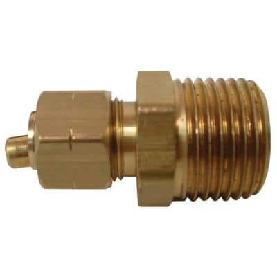 3/8 in. Compression x 1/2 in. MIP Brass Adapter Fitting (2-Pack)