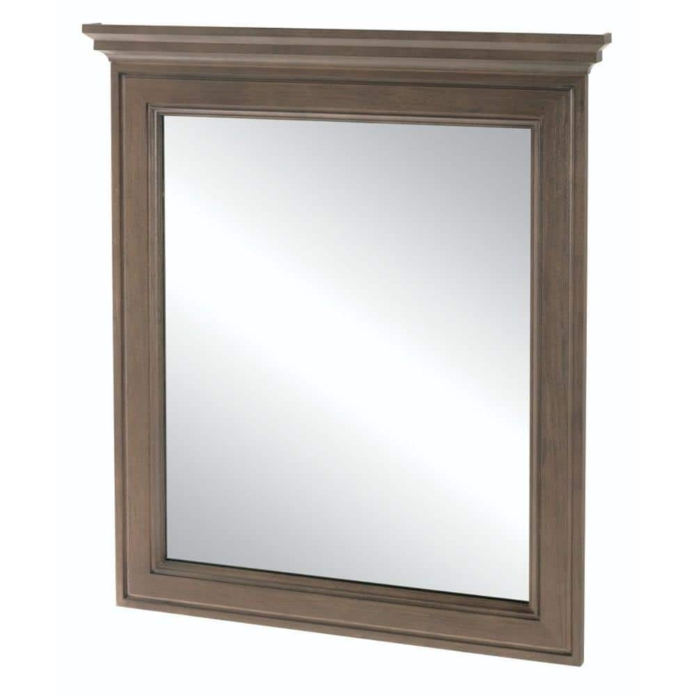 Home Decorators Collection 30 In W X 34 In H Framed Rectangular Bathroom Vanity Mirror In Winter 19fvm3034 The Home Depot