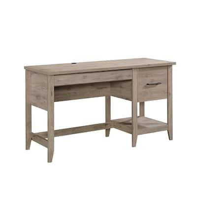 52 in. Rectangular Laurel Oak 2 Drawer Computer Desk with File Storage