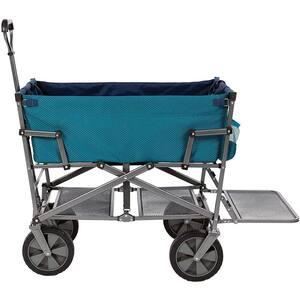 3 cu. ft. Steel Double Decker Collapsible Garden Cart