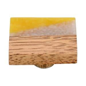 Frosted Timber 1-4/7 in. White and Yellow Marble Cabinet Knob
