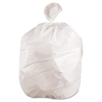 43 in. x 47 in. 56 Gal. 0.6 mil White Low-Density Trash Can Liners (25-Bags/Roll, 4-Rolls/Carton)