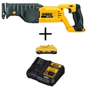 20-Volt MAX Cordless Reciprocating Saw with (1) 20-Volt Battery 4.0Ah & Charger