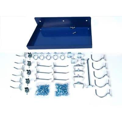DuraHook 36-Pieces Hook Assortment and 12 in. W x 6 in. D DuraBoard Shelf