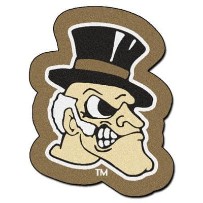 NCAA Wake Forest University Cream 3 ft. x 4 ft. Specialty Area Rug