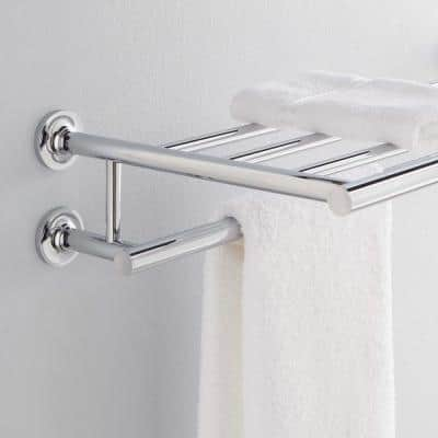 Purist 24 in. Towel Hotelier Towel Rack in Polished Chrome