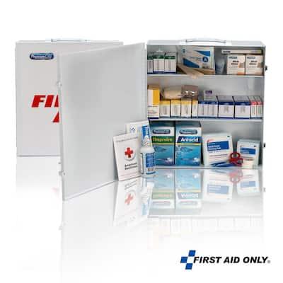 3-Shelf 100-Person Metal Cabinet, OSHA, First Aid Kit (694-Piece)