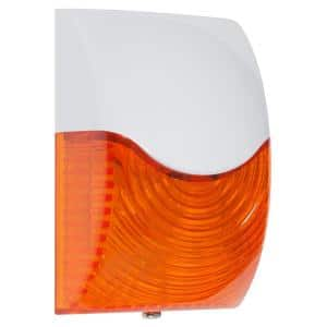 Rectangular Amber Select-Alert Siren and LED Strobe Wired Alarm Kit with Mini Controllers