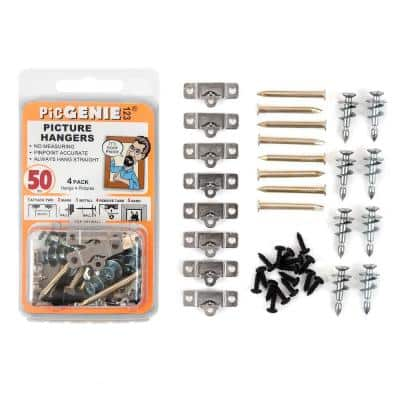 Picture Hanging Kit 40-Piece Hangs Pics Up To 50 lbs. (4-Pack)