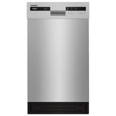 18 in. Monochromatic Stainless Steel Front Control Built-In Compact Dishwasher with Stainless Steel Tub, 50 dBA