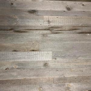 3/8 in varying widths of 3,4,5 in x varying lengths Natural Grey Weathered Barn Wood Straight Edge Plank (20 sqft/pack)