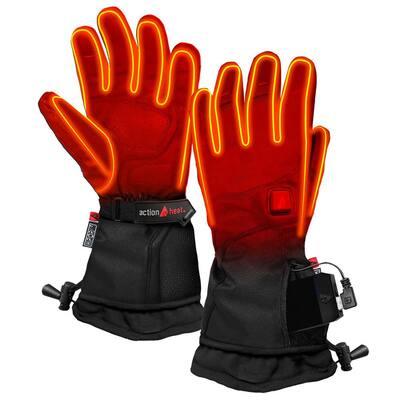 Women's Medium Black 5V Heated Premium Gloves