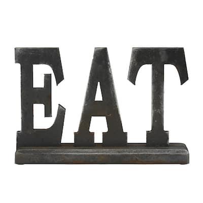 Black Wood Industrial Decorative Sign