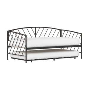 Essex Bronze Twin Metal Daybed with Rollout Trundle