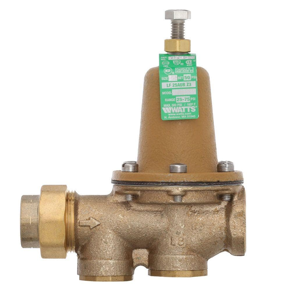 Watts 3 4 In Brass Fpt X Fpt Water Pressure Reducing Valve 3 4 Lf25aub Z3 The Home Depot