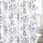 Casablanca Garden 72 in. Cotton Shower Curtain