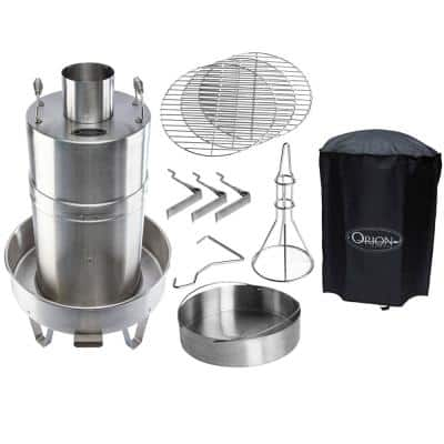 Orion Cooker Outdoor Convection Steam Cooker Barbecue Smoker Plus Heavy-Duty Cover